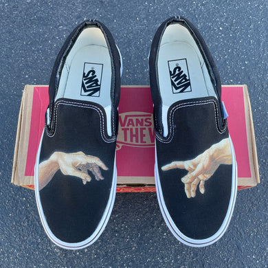 God Hands - Custom Slip On Vans The Creation of Adam