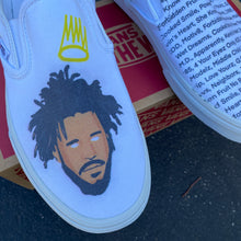 Load image into Gallery viewer, J Cole Custom Sneakers - Vans Slip On Shoes