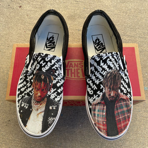 Juice Wrld Sneakers - Custom Slip On Vans