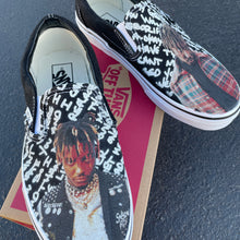 Load image into Gallery viewer, Juice Wrld Sneakers - Custom Slip On Vans