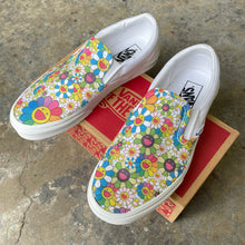 Load image into Gallery viewer, Takashi Murakami Rainbow Flower Sneakers - Custom Slip On Vans