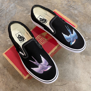 Purple and Blue Swallows Vans