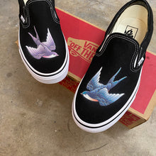 Load image into Gallery viewer, Purple and Blue Swallows Vans