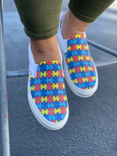 Load image into Gallery viewer, Autism Awareness Puzzle Pieces Slip On Vans Shoes
