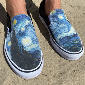 Starry Night Vans Slip-Ons Starry Night