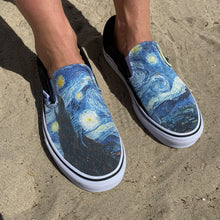 Load image into Gallery viewer, Starry Night Vans Slip-Ons Starry Night
