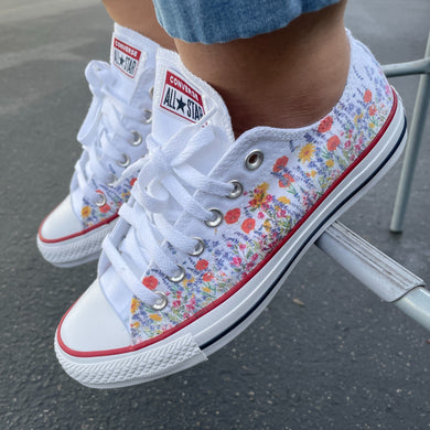 Flower Field - Custom Low Top Converse