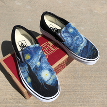 Load image into Gallery viewer, Vans Slip-Ons Custom Printed Starry Night