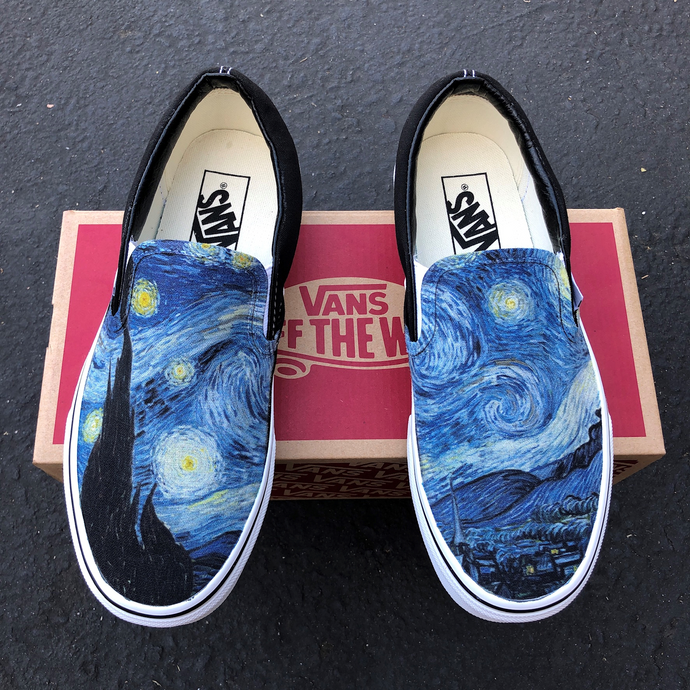 Vans Slip-Ons Custom Printed Starry Night