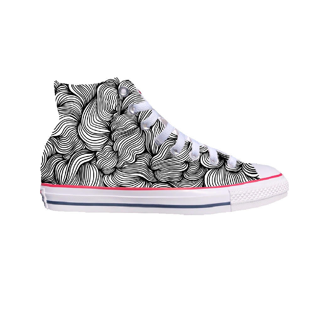Swirl White High-Top Converse