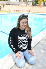 Load image into Gallery viewer, Feeding Frenzy Black Long Sleeve