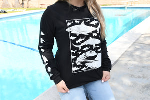 Feeding Frenzy Black Long Sleeve