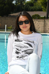 OH WHALE White Long Sleeve