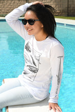 Load image into Gallery viewer, OH WHALE White Long Sleeve