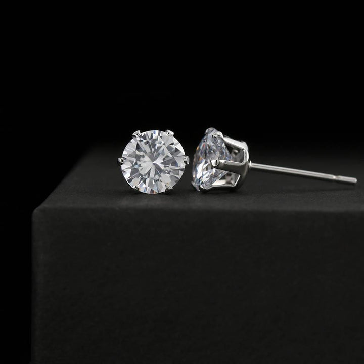 Cubic Zirconia 6mm Earrings