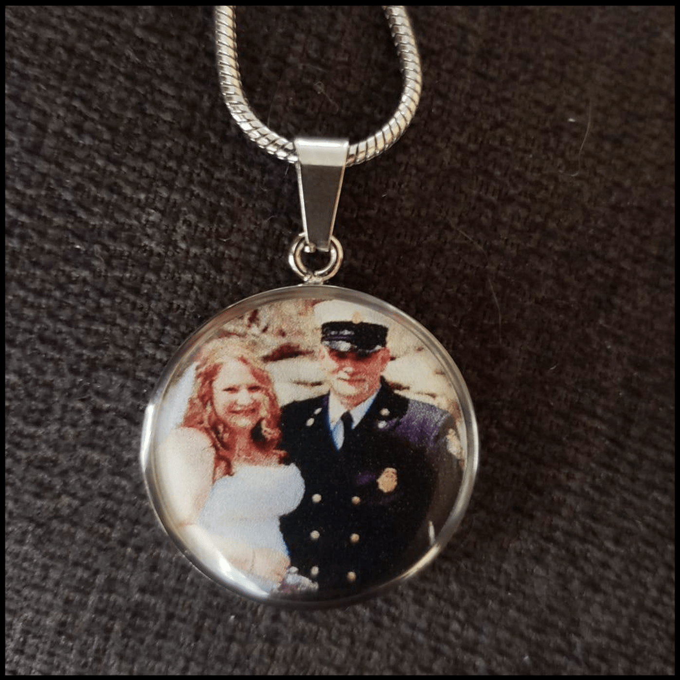Memorial Photo Necklace