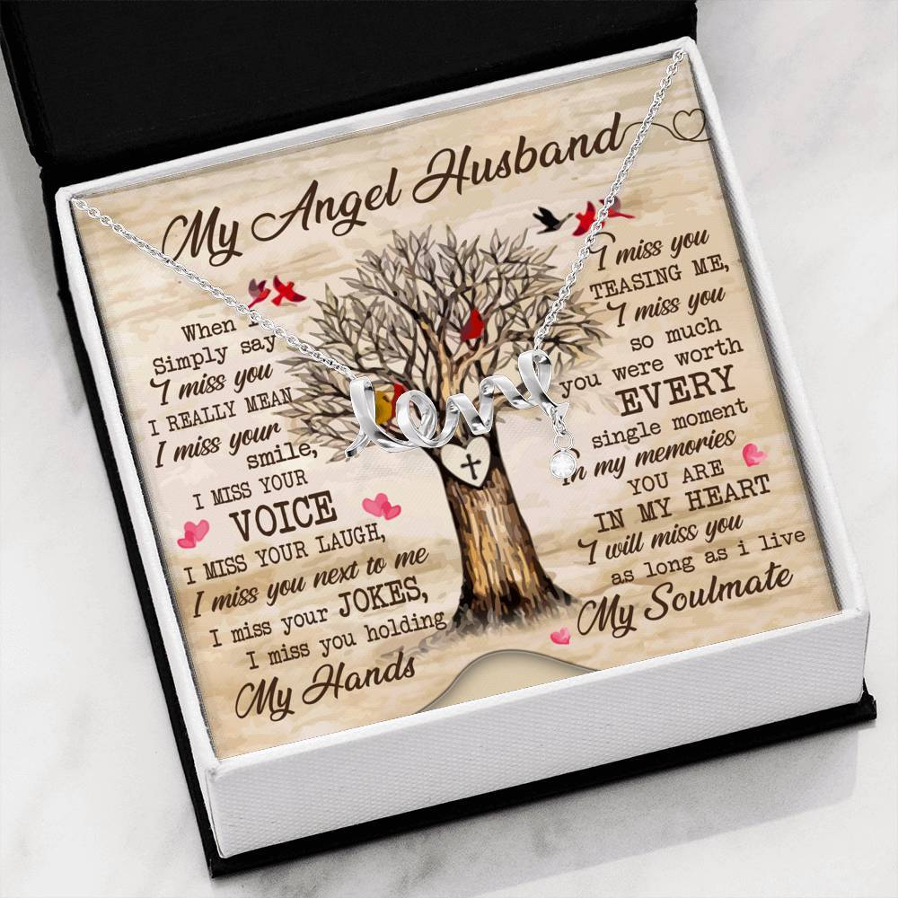 My Angel Husband Necklace