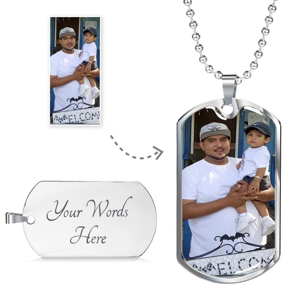PERSONALIZED PHOTO NECKLACE (UNISEX)