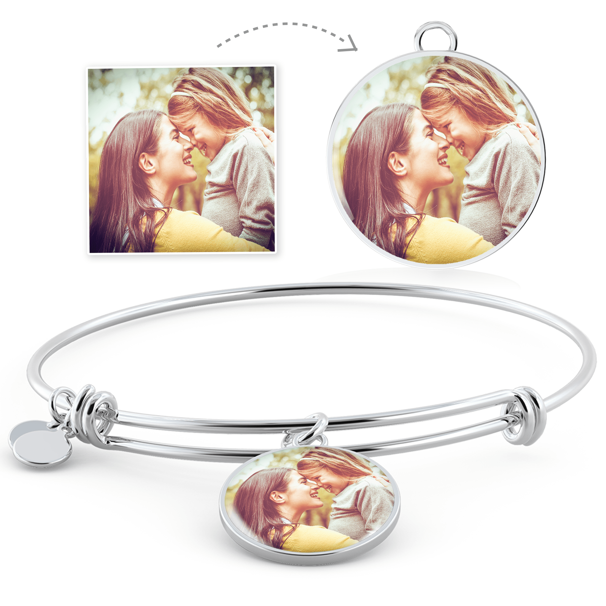 MEMORIAL ADJUSTABLE PHOTO BANGLE