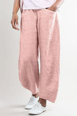 Women's Casual Solid Color Straight Pants