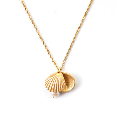 Fashion shell alloy necklace