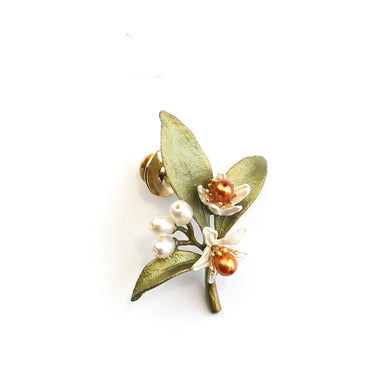 Fashion plant flower alloy brooch