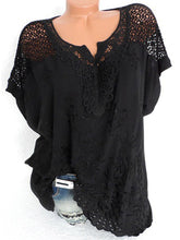 Load image into Gallery viewer, V Neck  Patchwork  Embroidery Blouses