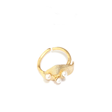 Fashion plant flower alloy ring