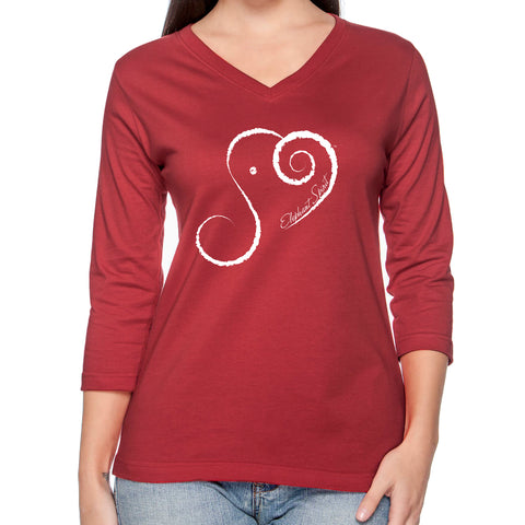 Elephant Spirit Shirt 3/4 Sleeve RED