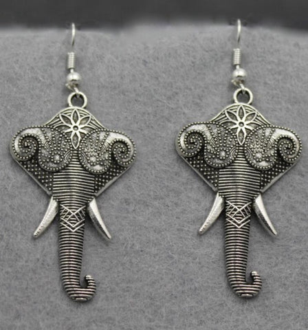 Silver Lotus and Paisley Earrings