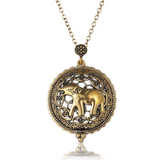 NECKLACE: Elephant Magnifying Glass Pendant