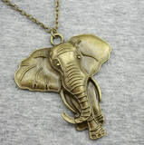ELEPHANT NECKLACE - Bronze African Elephant
