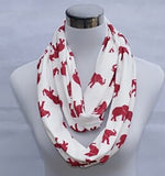 Elephant Infinity Scarf - Elephants on Parade