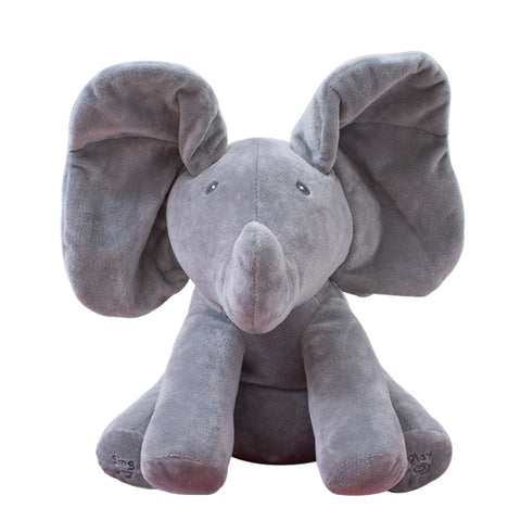"PLUSH ELEPHANT - ""Boo"" the Peek-A-Boo Elephant"