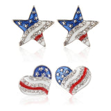 Stars & Stripes Earrings and Necklace