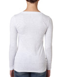 Elephant Spirit Shirt - Long-Sleeve Scoop Neck WHITE