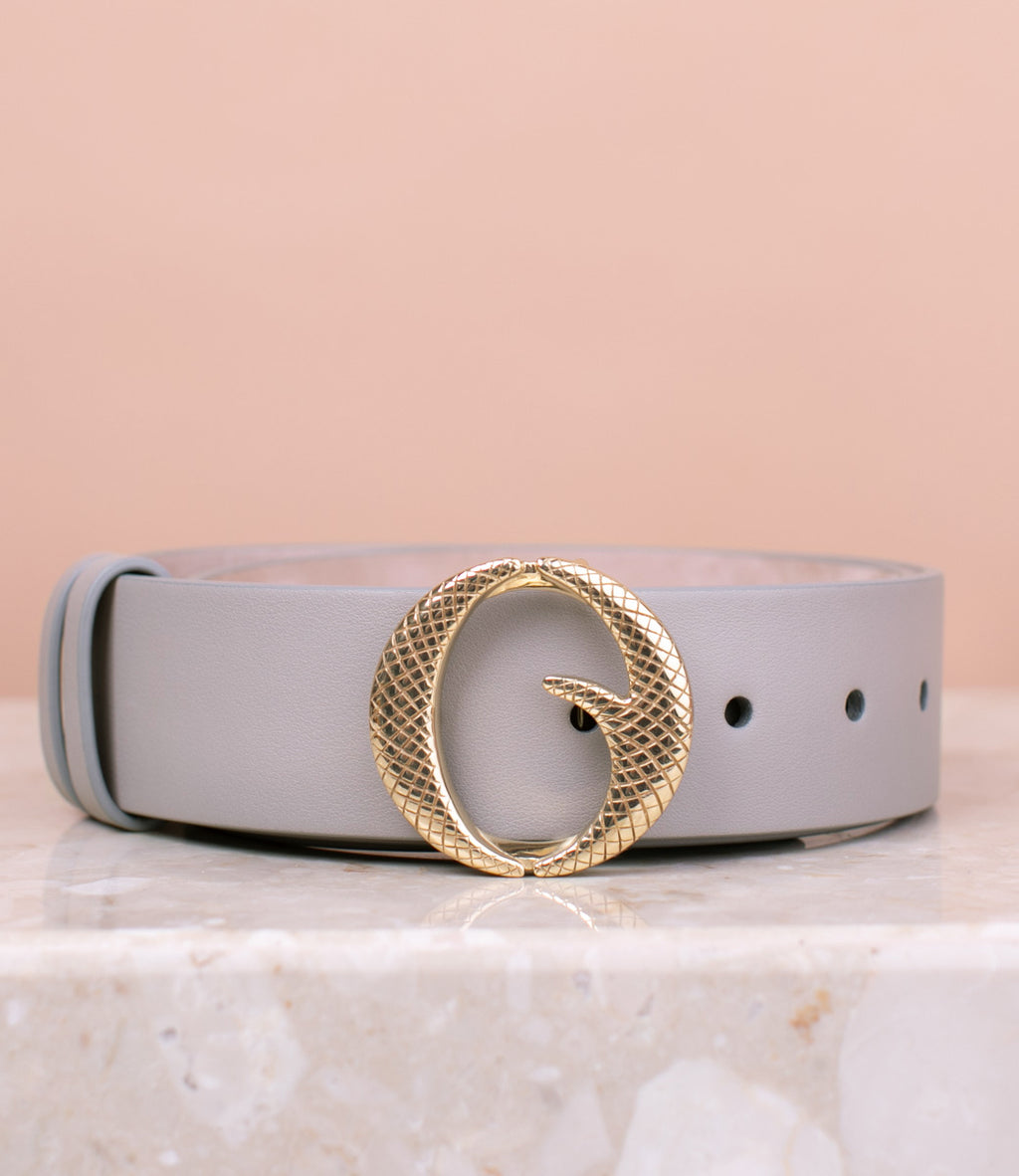 Medium Brass & Italian Stone Belt