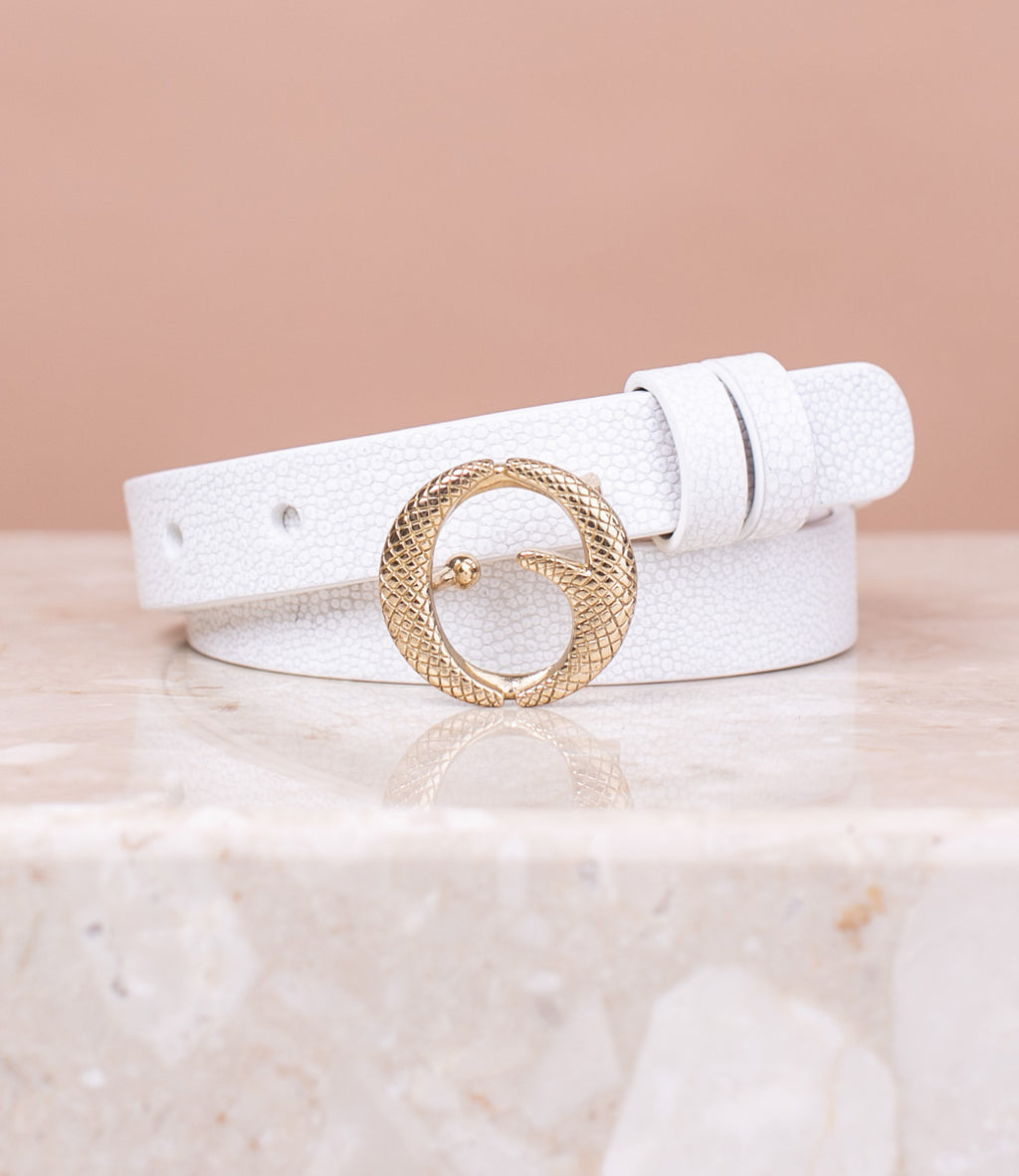 Mini Brass & White Stingray Belt II