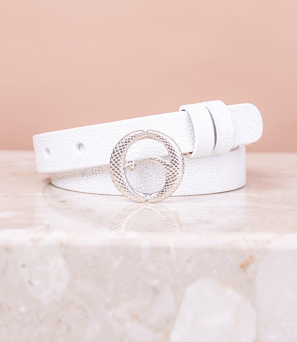 Mini Sterling Silver & White Stingray Belt II