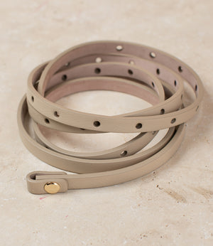 Micro Italian Beige Leather Strap