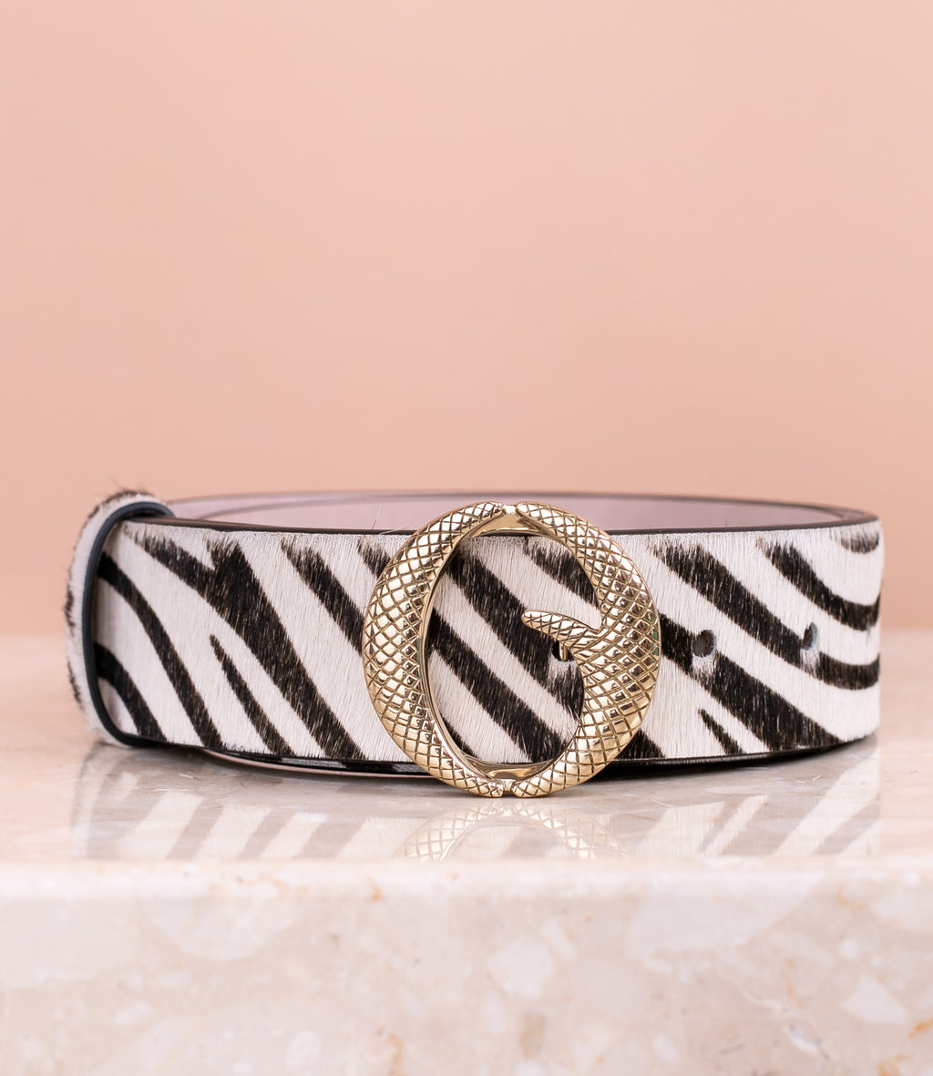 *PRE-ORDER* Medium Brass & Zebra Belt II