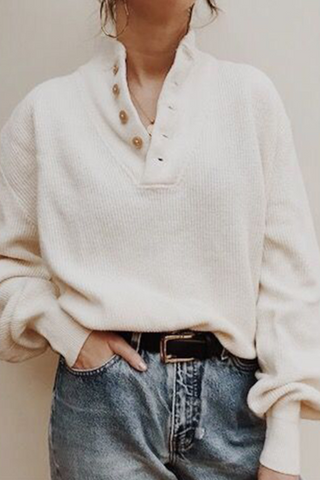 Casual Knit Ladies Long Sleeve Sweater