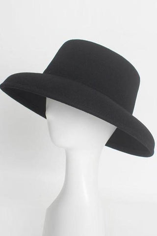Fashion   Casual  Woollen Bowler hat Bell shaped   cap
