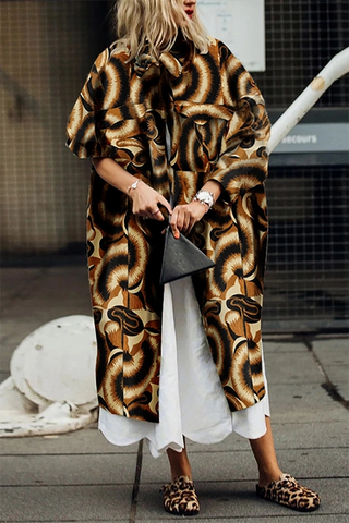 Fashion printed ladies coat