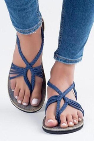 Plain  Flat  Ankle Strap  Peep Toe  Casual Flat Sandals