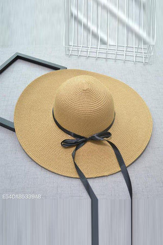 Fashion Floppy Straw Hats Casual Vacation Wide Brimmed Hat