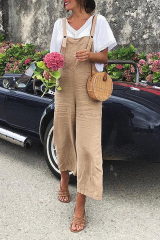 Fashion Jumpsuit Sexy Slim Thin Khaki Wide Leg Color Khaki For Ladies , SHEHEAVEN Stylish Jumpsuit