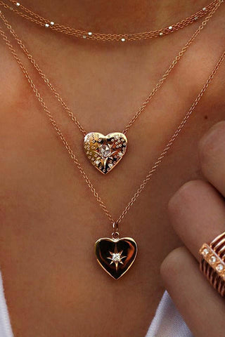 Fashion Jewelry Love Multilayer Heart Pendant Necklace