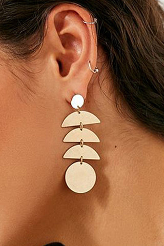 Ethnic Style Geometry Element Paillette Pendant Earrings