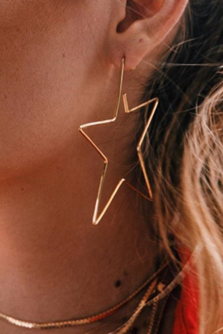 Fashion Hollow Out Star Earring